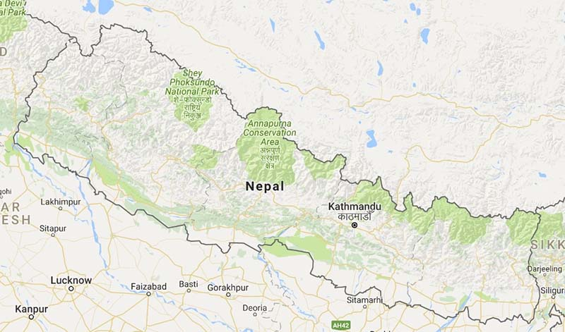 Map of nepal home map of nepal courtsey gumiabroncs Choice Image